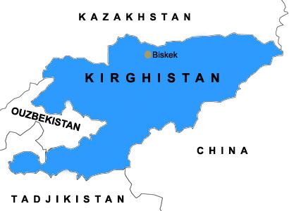 Carte Kirghizistan