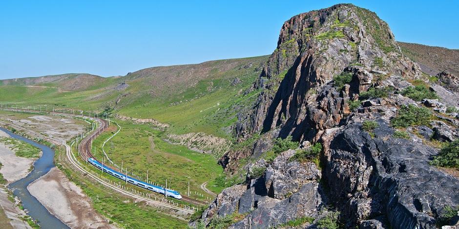 Train Afrosiab près de Samarkand