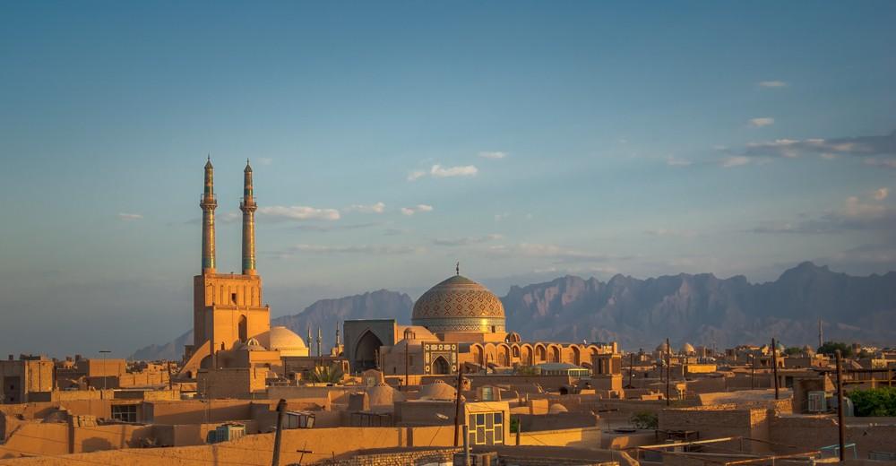 Coucher de soleil sur Yazd