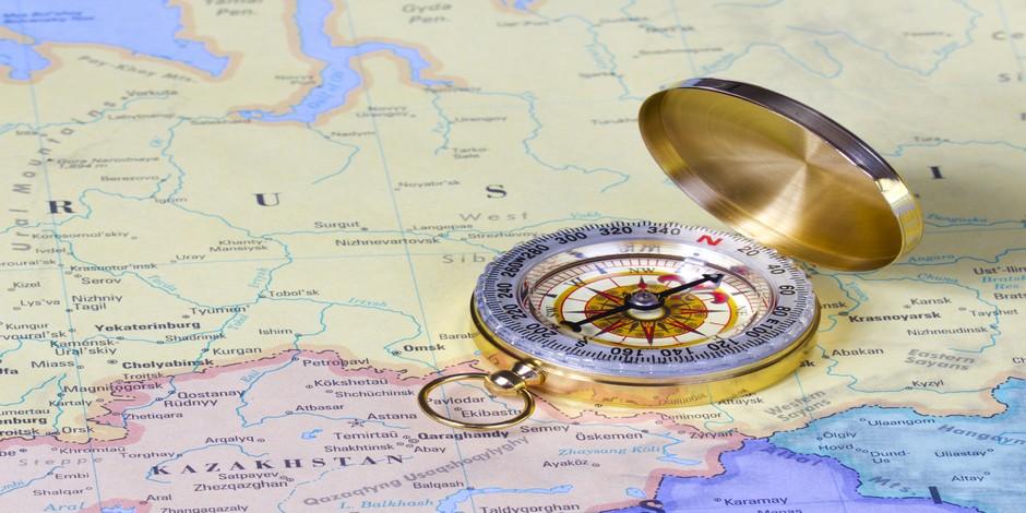 Le Kazakhstan sur une carte