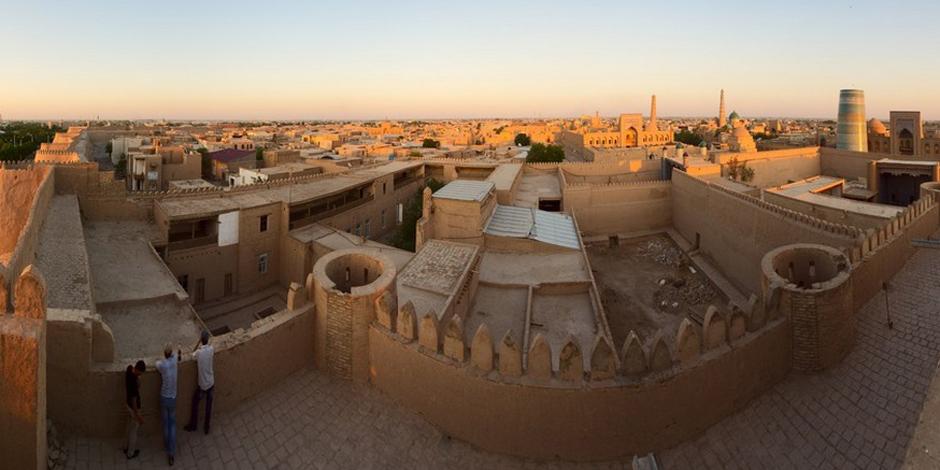 Vue panoramique de Khiva