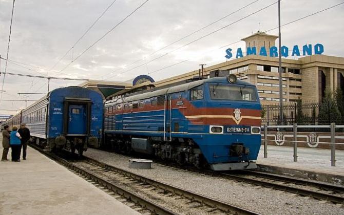 En gare de Samarkand