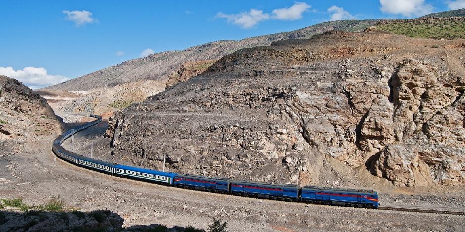 Train entre Tashkent et Termez