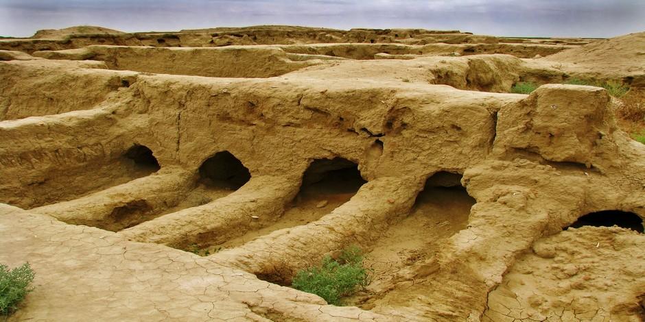 Ruines de l'ancienne cité Gonur-Depe