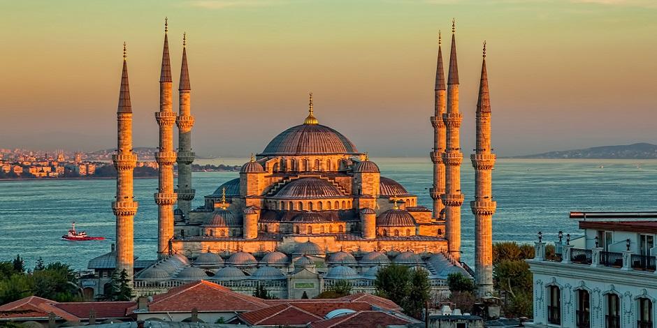 La mosquée au coucher du soleil