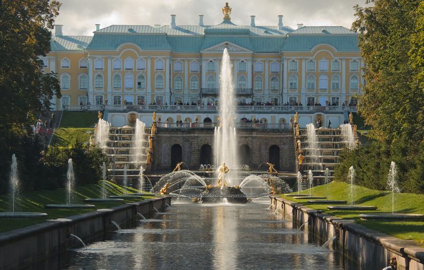Palais Peterhof vu de face