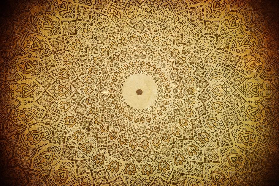 Ornements dans mosquée de Samarkand