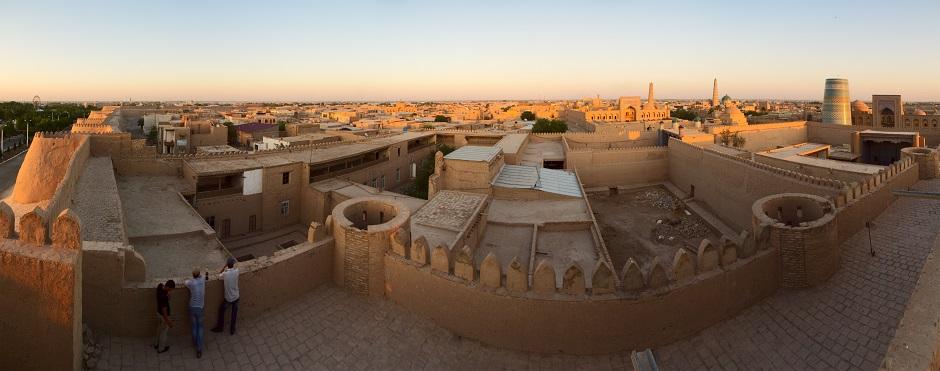Khiva au coucher du soleil