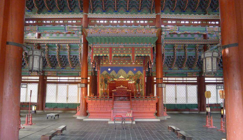Salle du trône du palais Gyeongbok